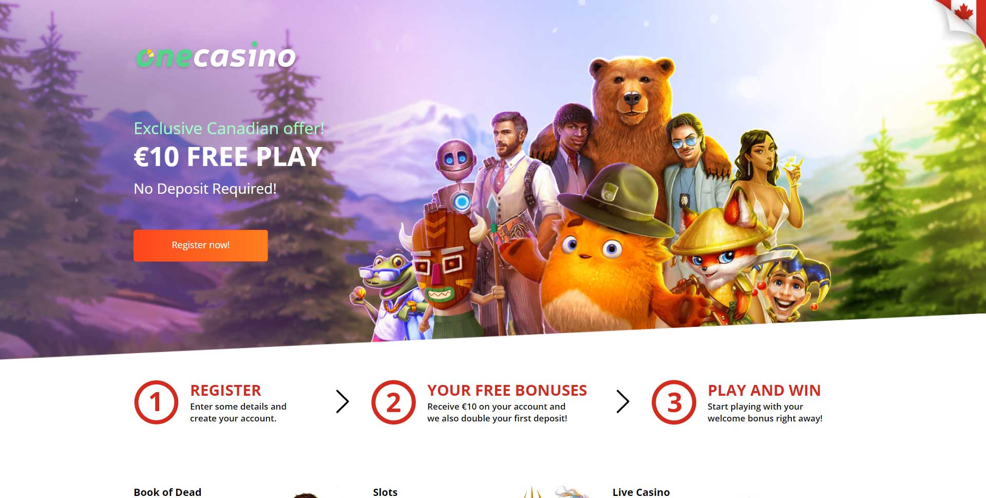 10 free play no deposit required at One Casino