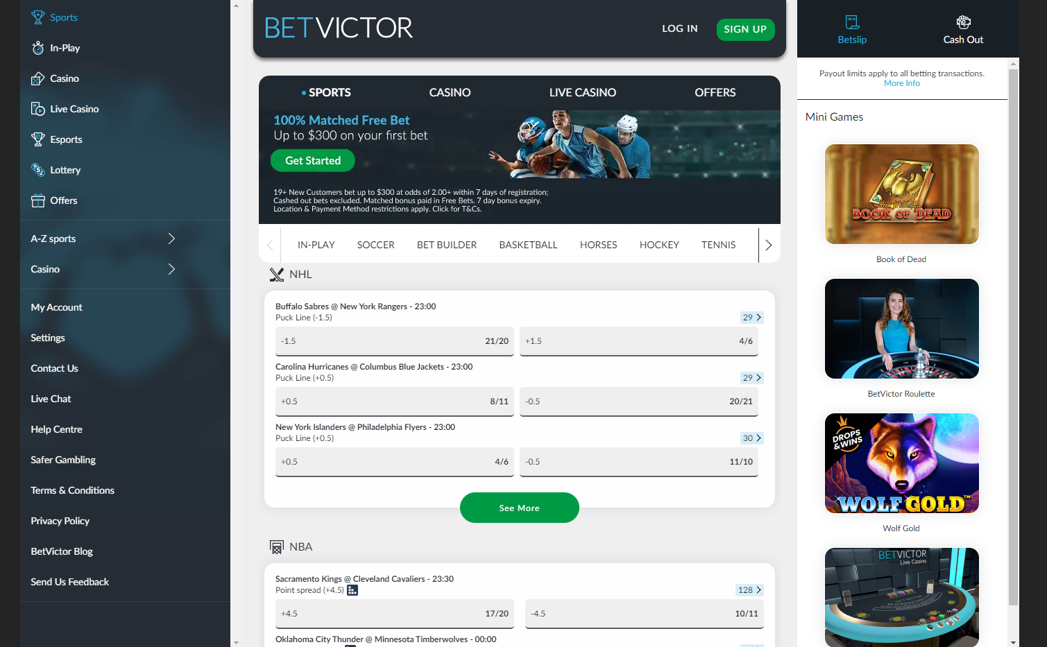 Betvictor sportsbook review