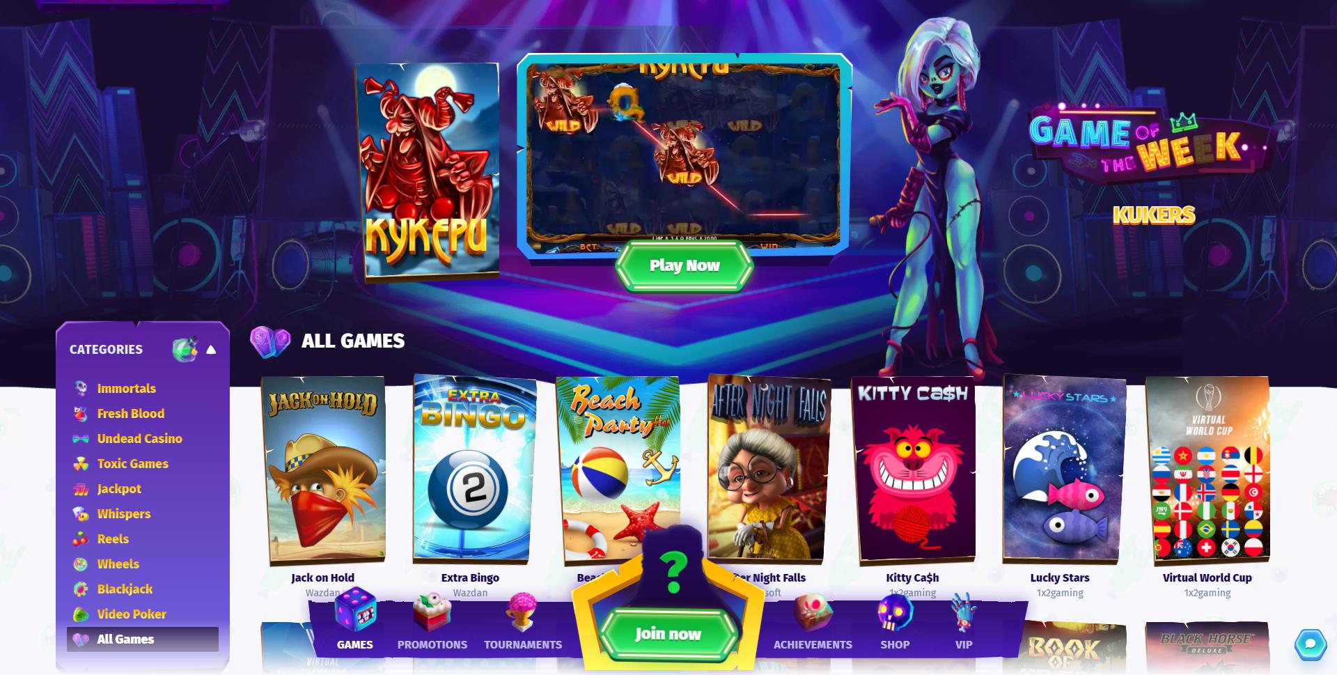 Casombie Casino Games