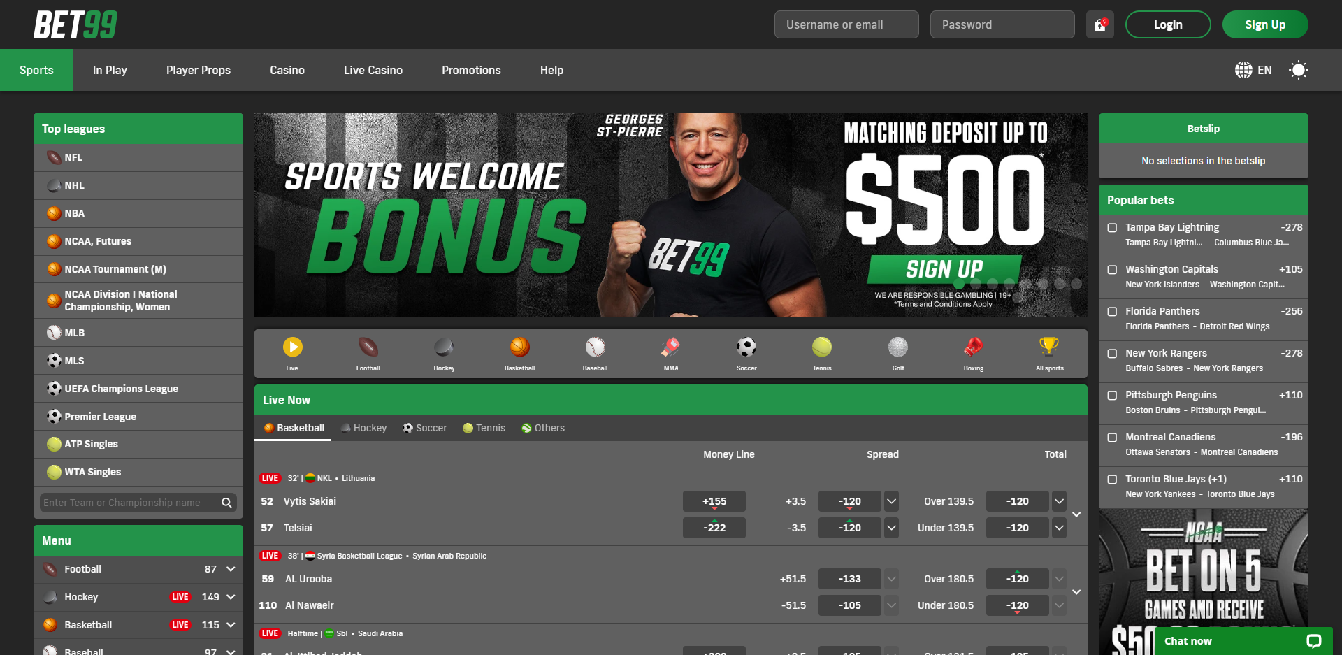 bet99 sportsbook review