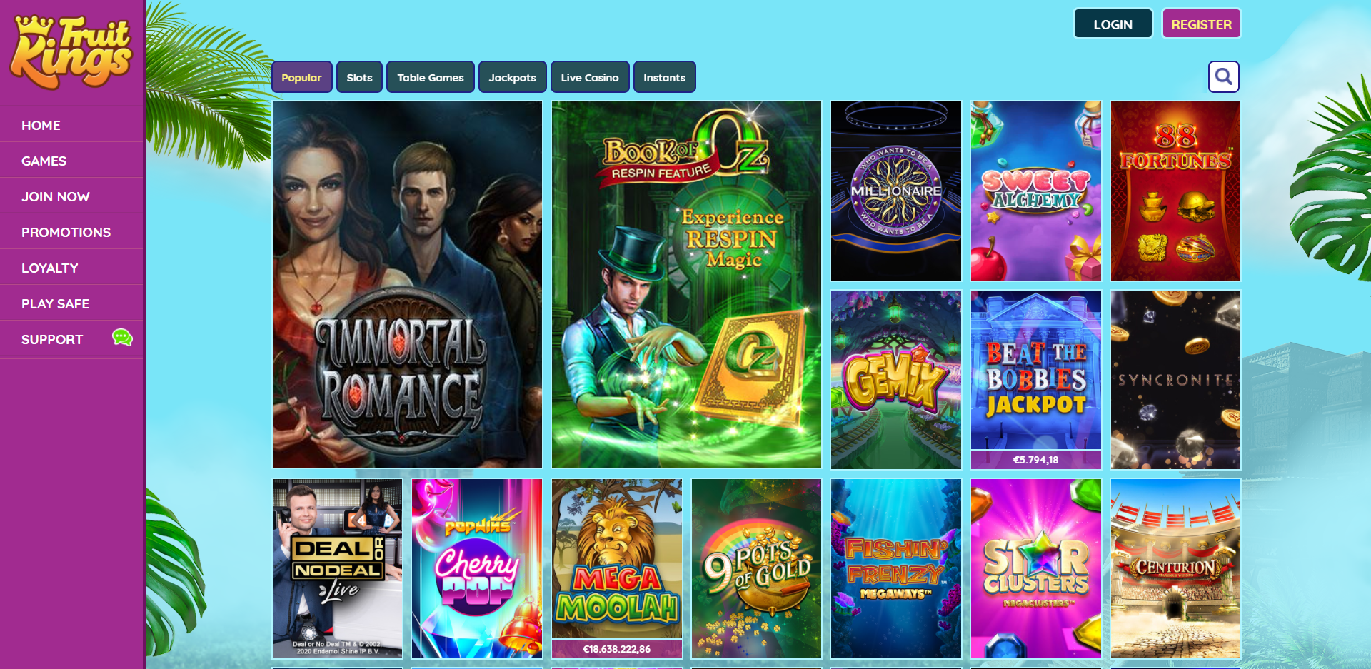 Casino Games in FruitKings