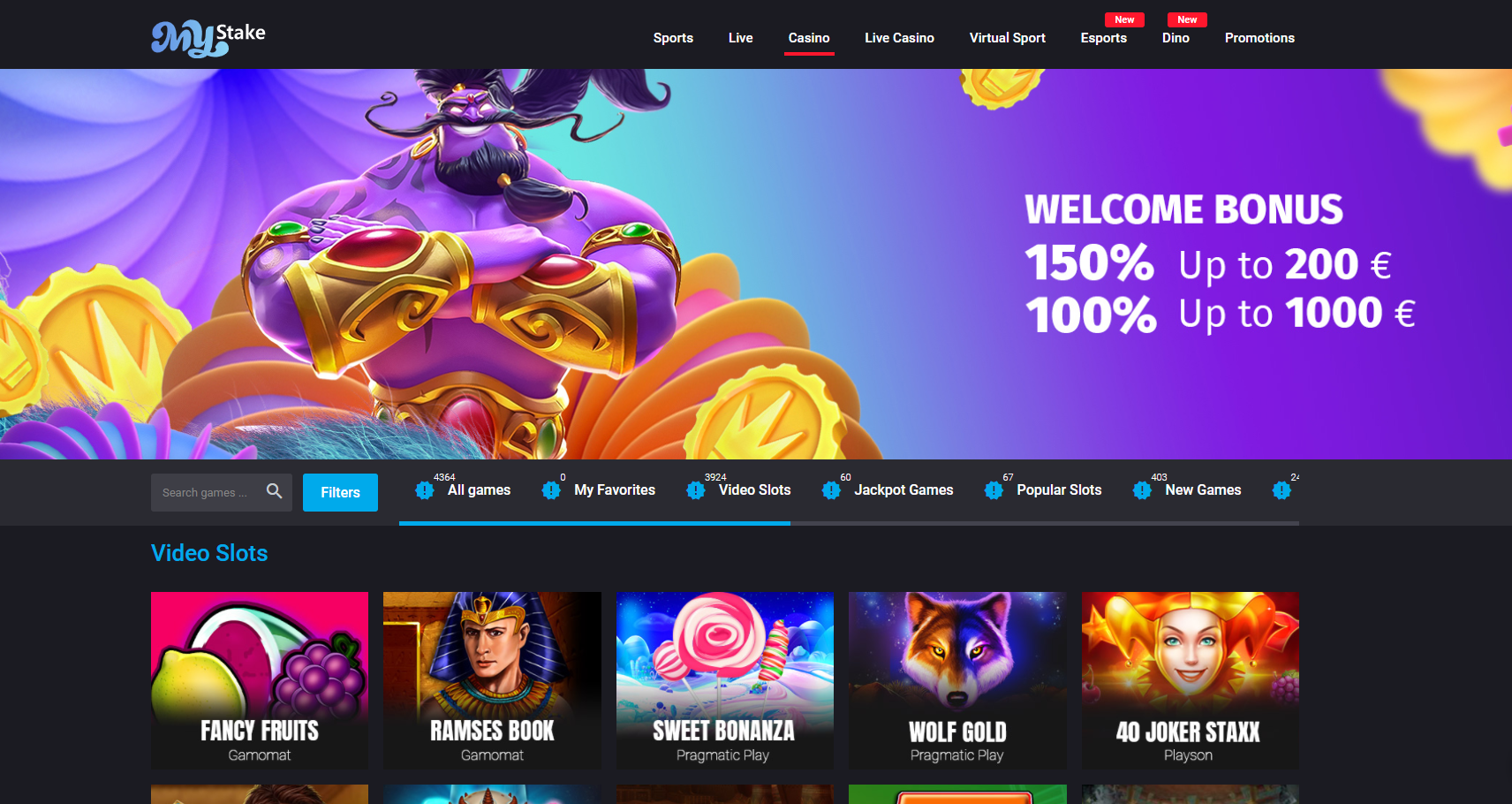 MyStake Casino Review