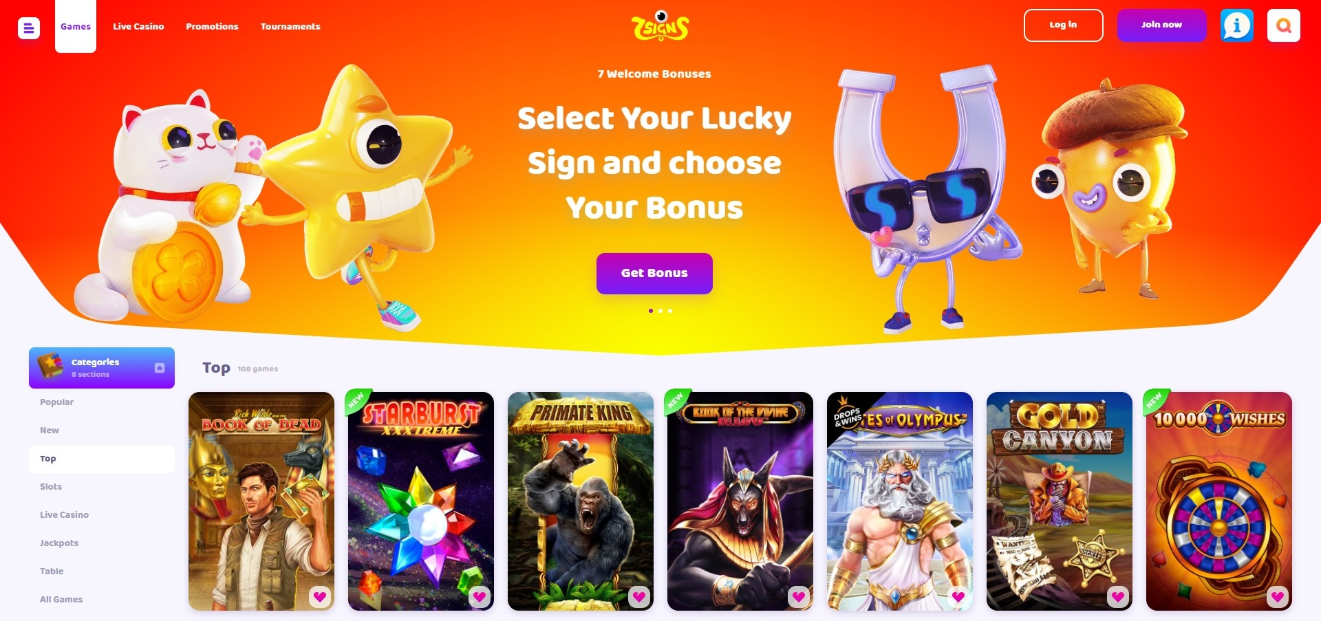 7signs casino games