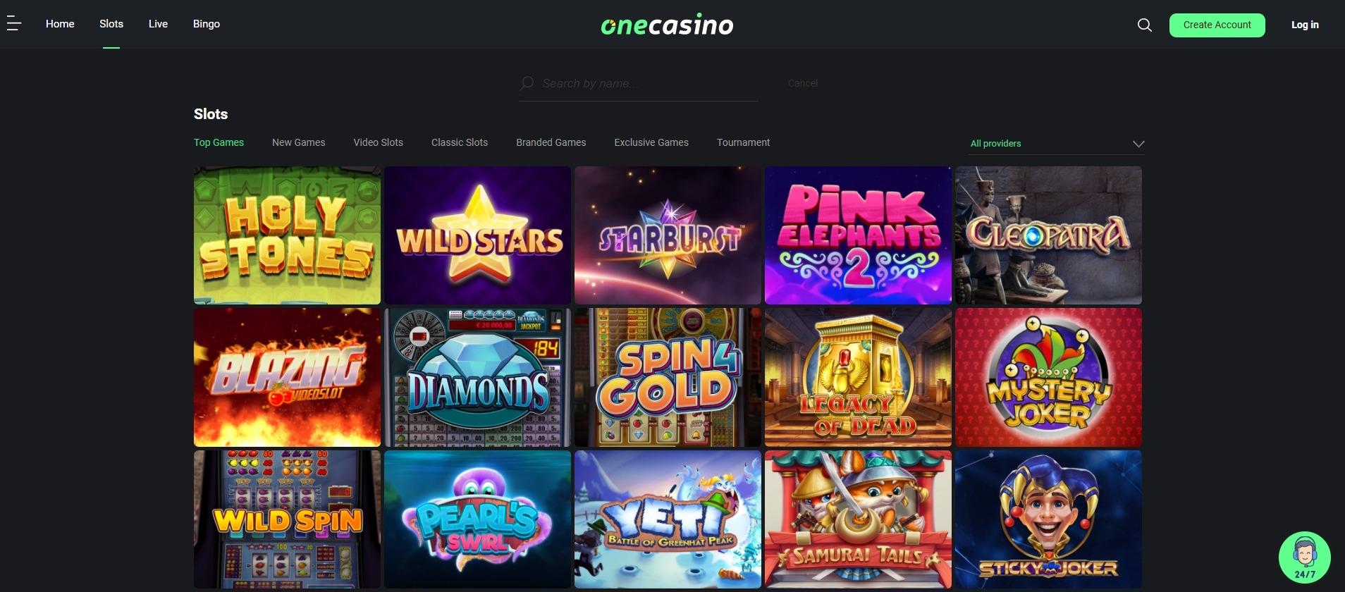 onecasino games