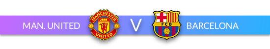 Man Utd v Barca Header