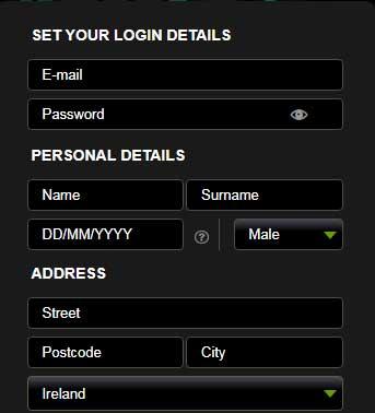 Betsafe Personal Details