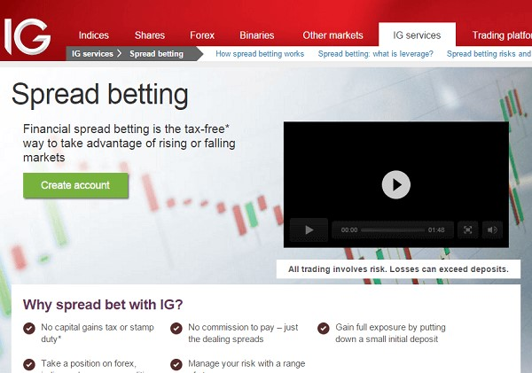 Go to the IG Financial website