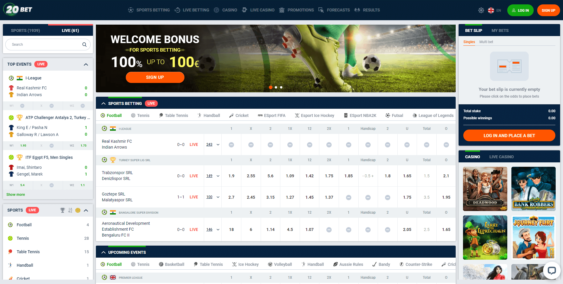 20bet Sportsbook Review