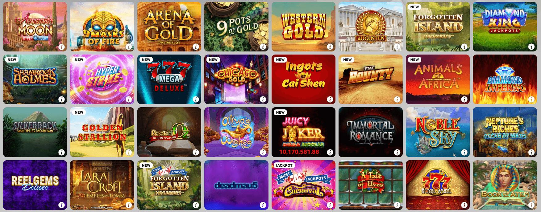 Casiqo Casino Games