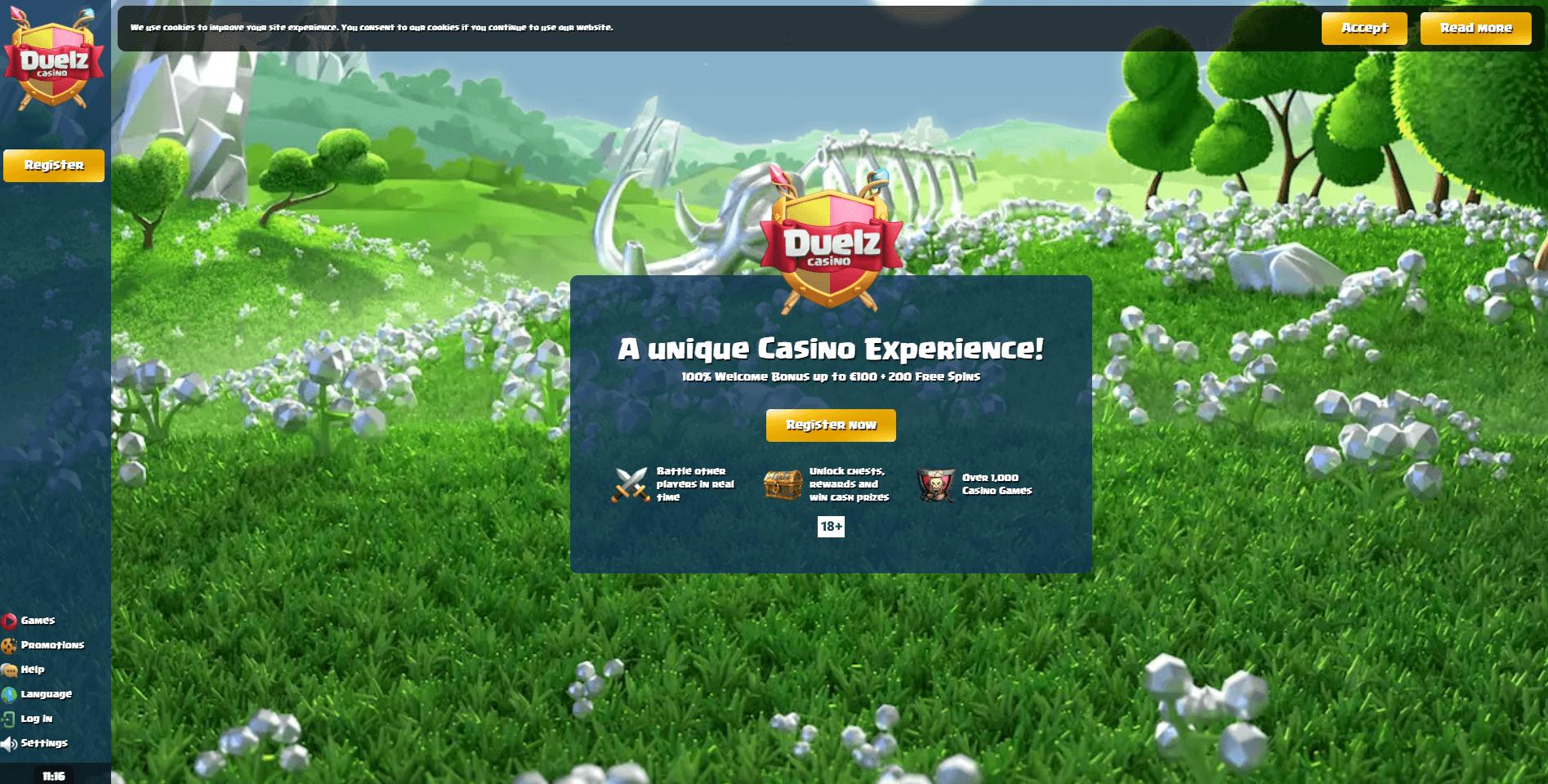 Duelz Casino Website
