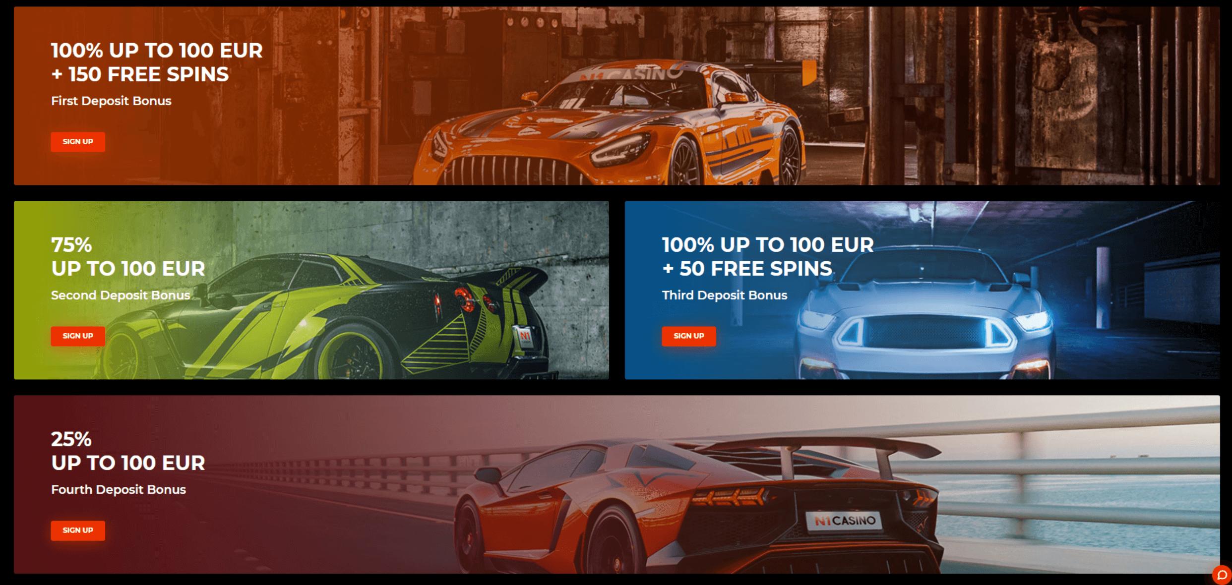 n1 casino welcome bonuses
