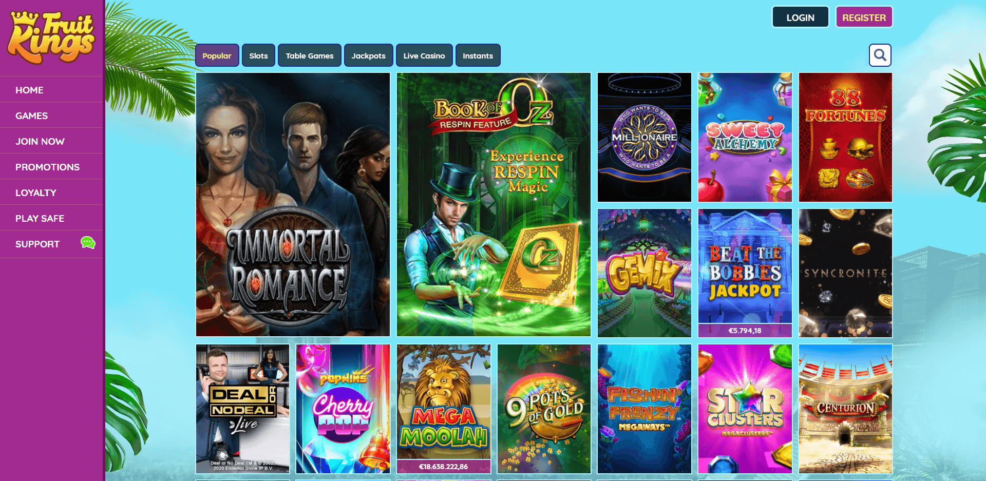 FruitKings Casino Games