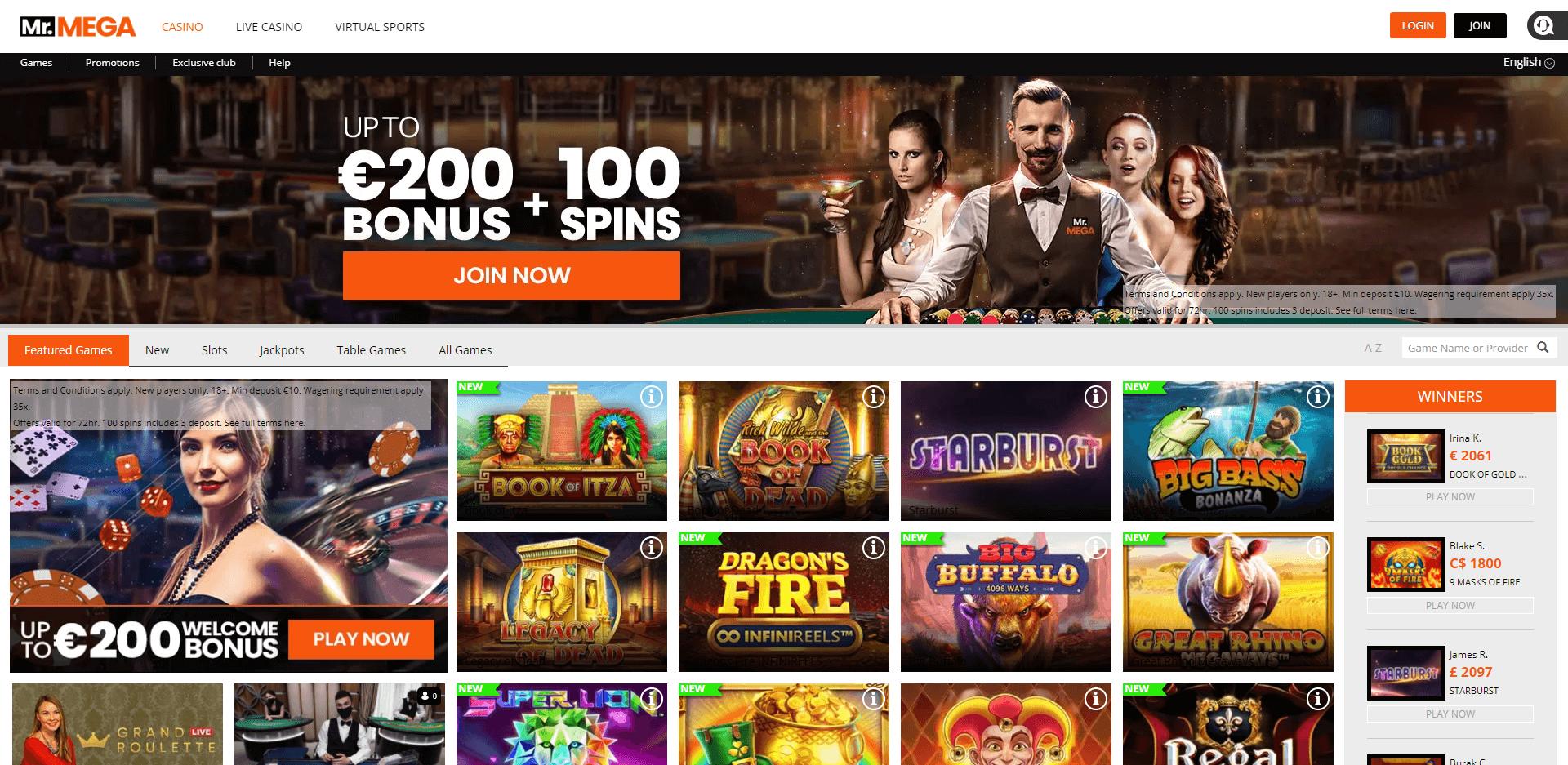 Mr Mega Casino