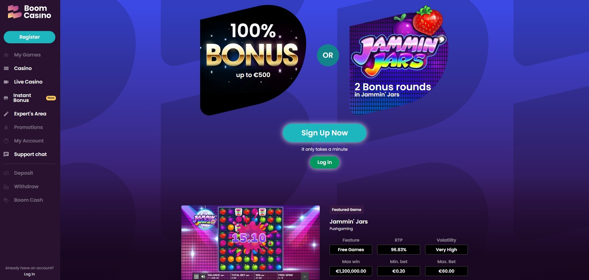 Boom Casino Welcome Offer & Promotions