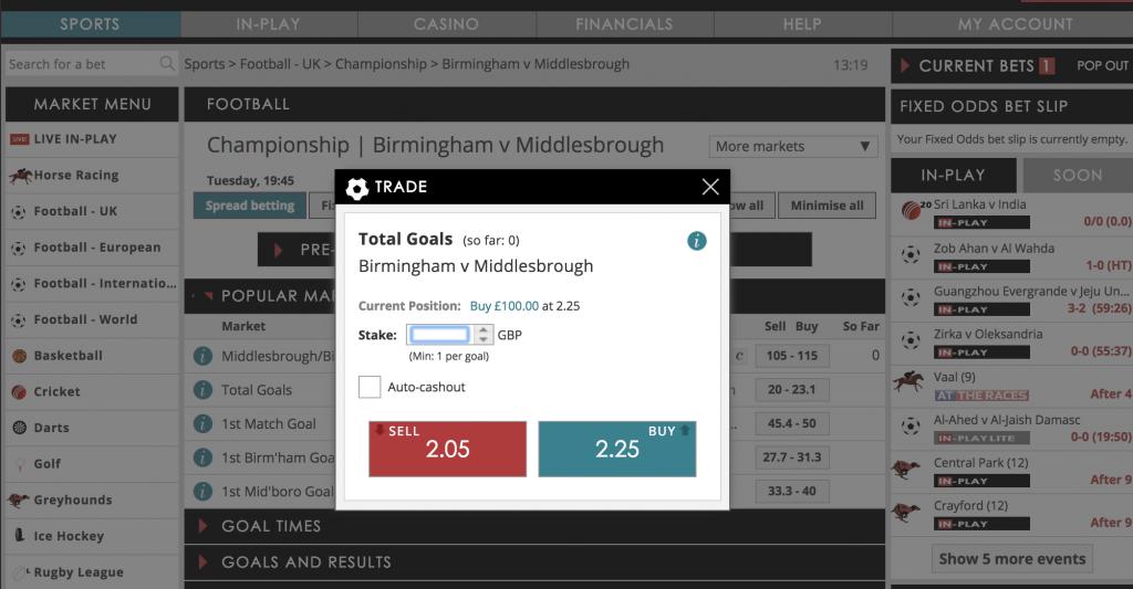 sports spread betting accounts